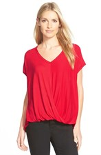 V-Neck Drape Front Top
